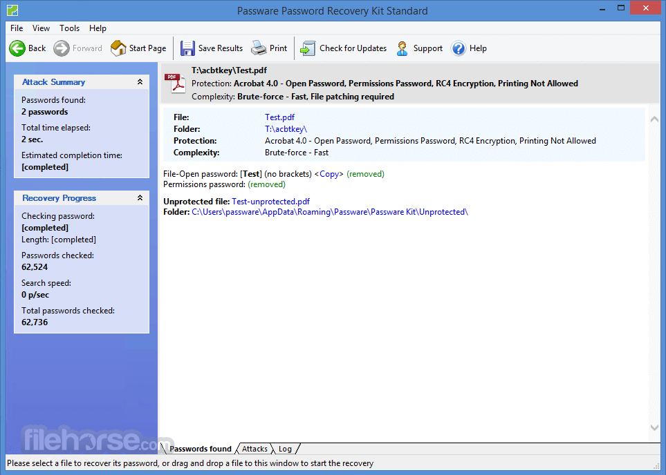 Passware Password Recovery Kit Standard 2018.1.2 Screenshot 2