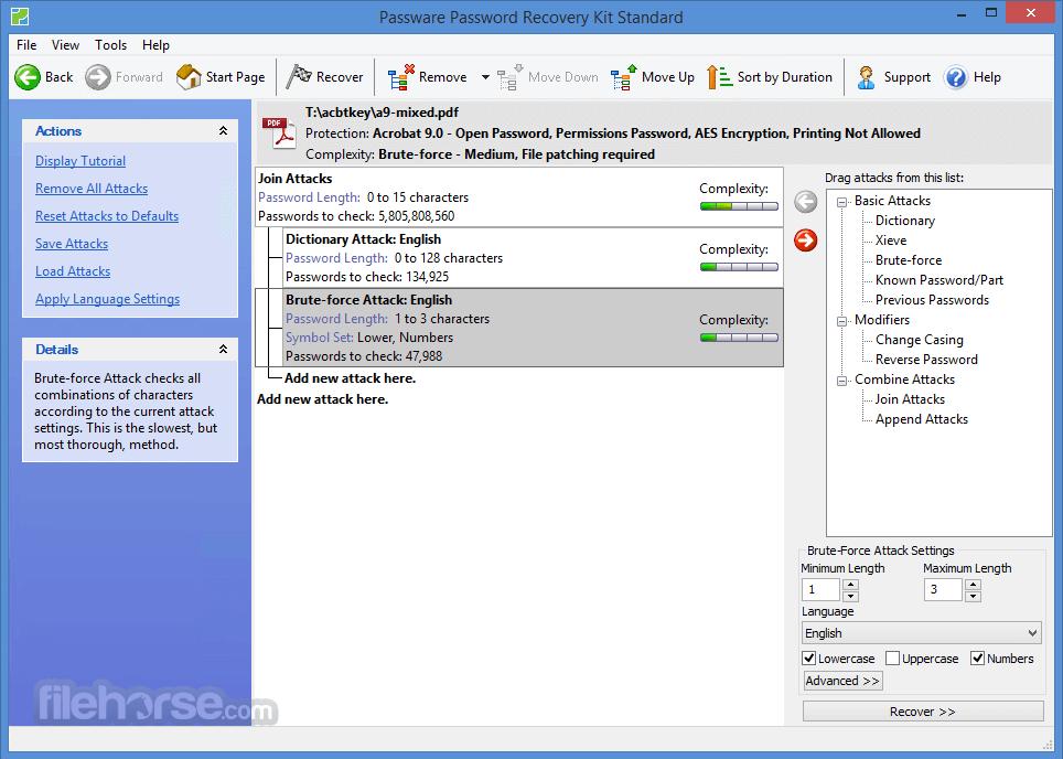 Passware Password Recovery Kit Standard 2017.5.0 Screenshot 3
