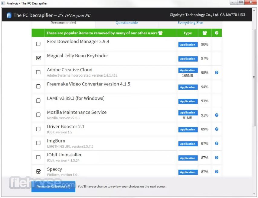PC Decrapifier 3.0.1 Screenshot 1