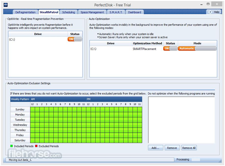 PerfectDisk Pro 14.0 Build 891 Captura de Pantalla 2