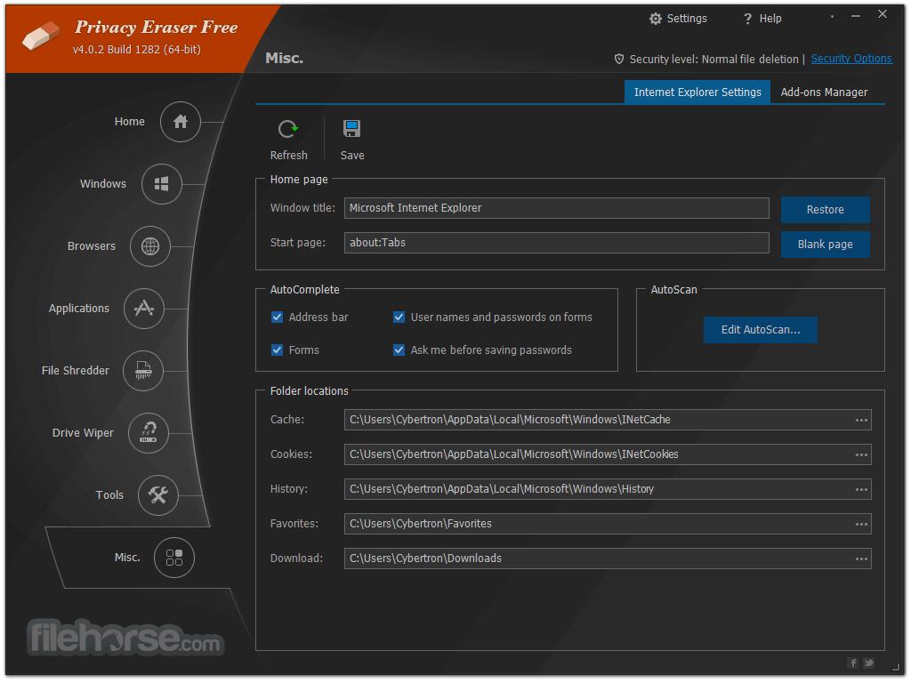 Privacy Eraser Free 4.32.5 Screenshot 5