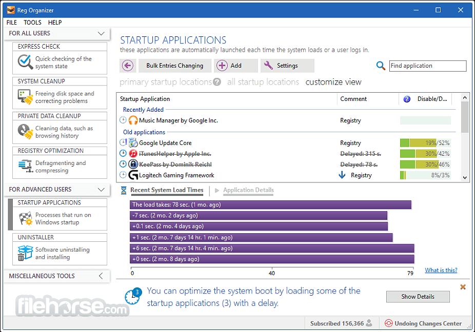 Reg Organizer 8.76 Screenshot 1