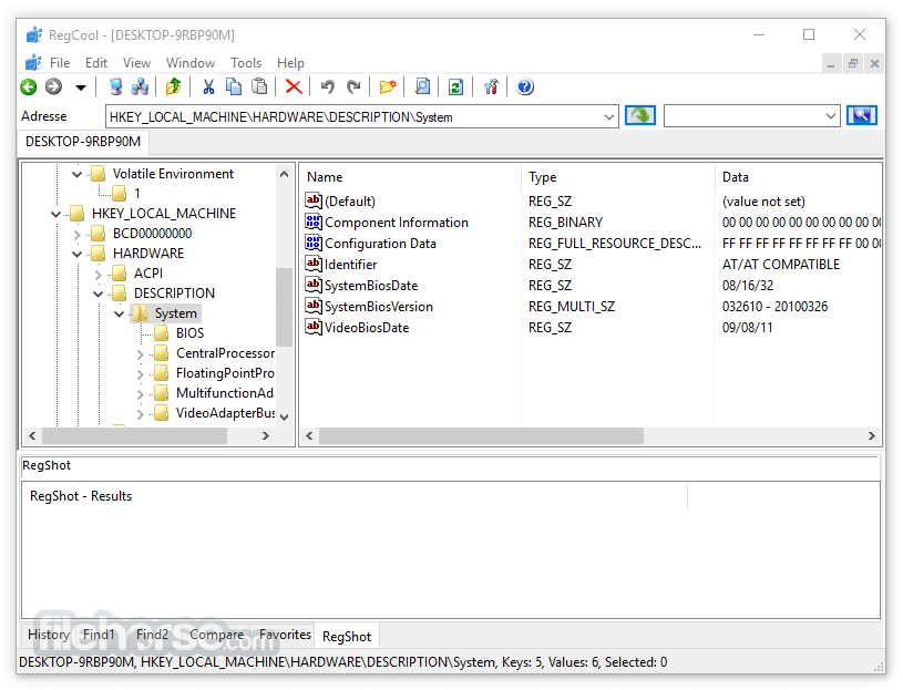 RegCool 1.129 Screenshot 2