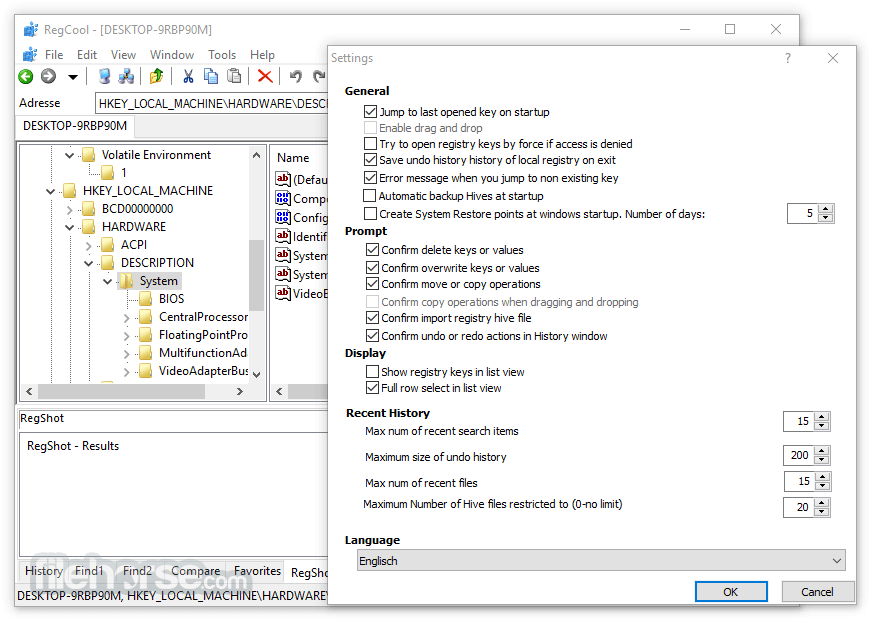 RegCool 1.129 Screenshot 3