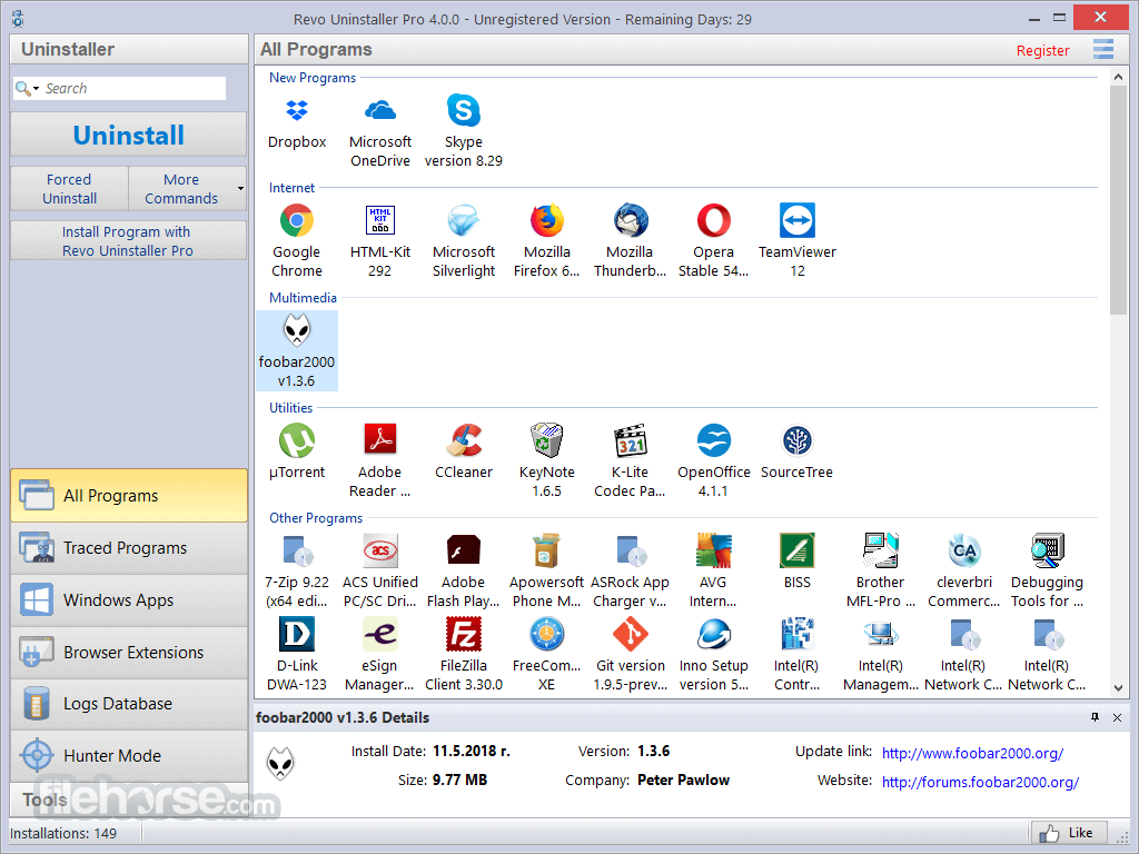 Revo Uninstaller Pro 3.2.1 Screenshot 1