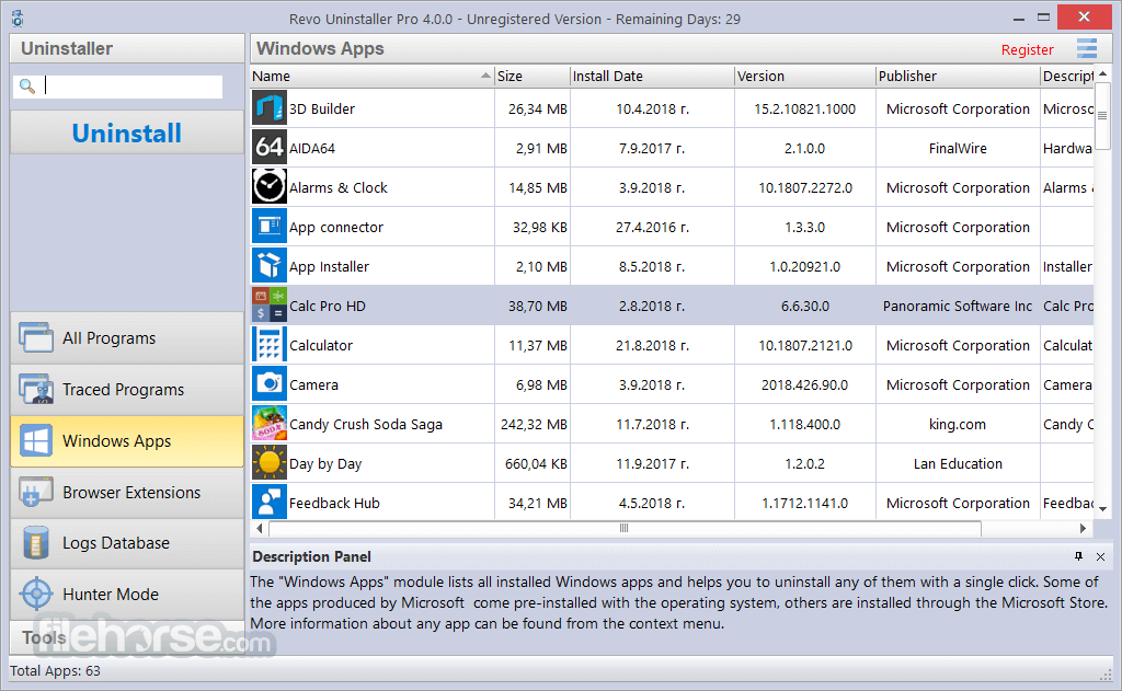 Revo Uninstaller Pro 3.2.1 Screenshot 2