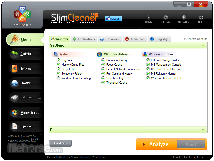 SlimCleaner 4.0.30878.55015 Screenshot 1