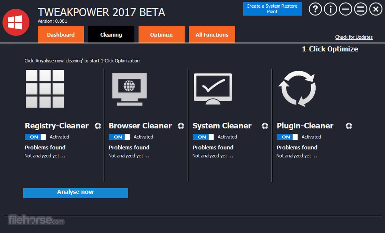 TweakPower 0.044 Beta Screenshot 2