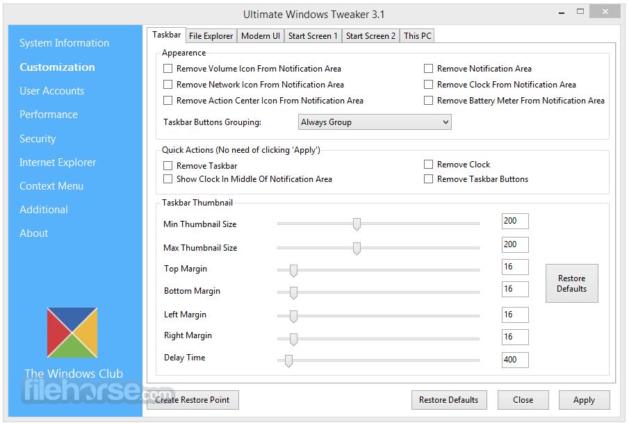 Ultimate Windows Tweaker Download (2019 Latest) for PC