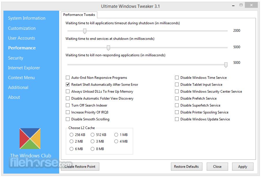 Ultimate Windows Tweaker 4.4.1 Screenshot 2