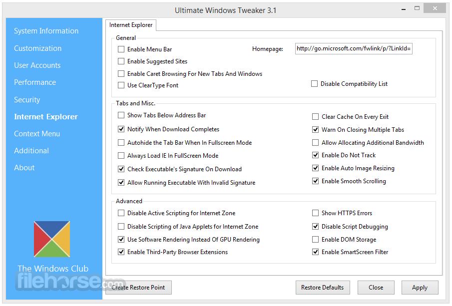 Ultimate Windows Tweaker 4.4.1 Screenshot 4