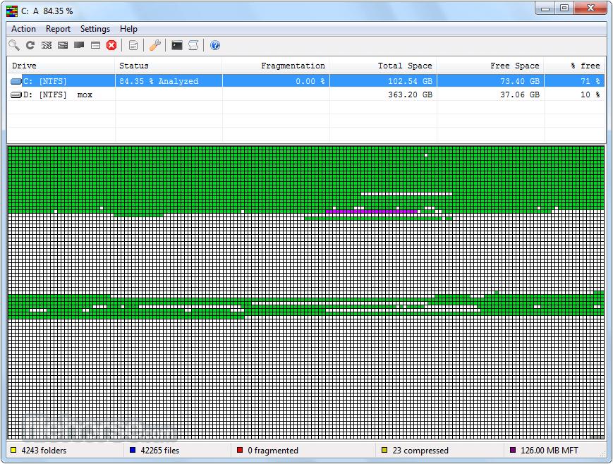 UltraDefrag 7.0.2 (32-bit) Screenshot 1