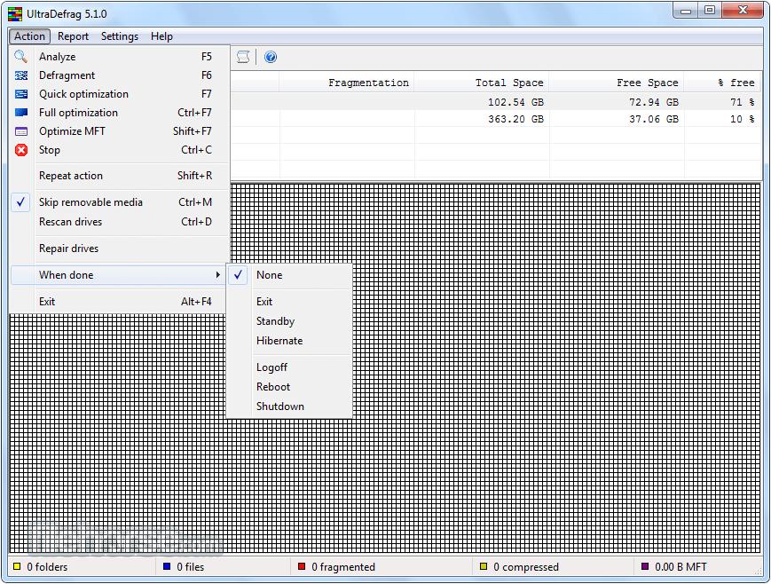 UltraDefrag 7.0.2 (32-bit) Screenshot 3
