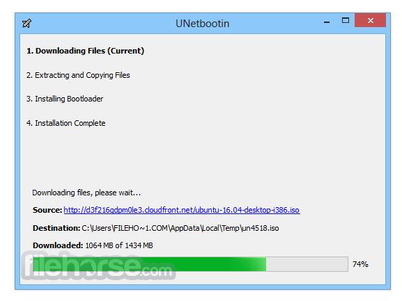 UNetbootin 6.57 Screenshot 2