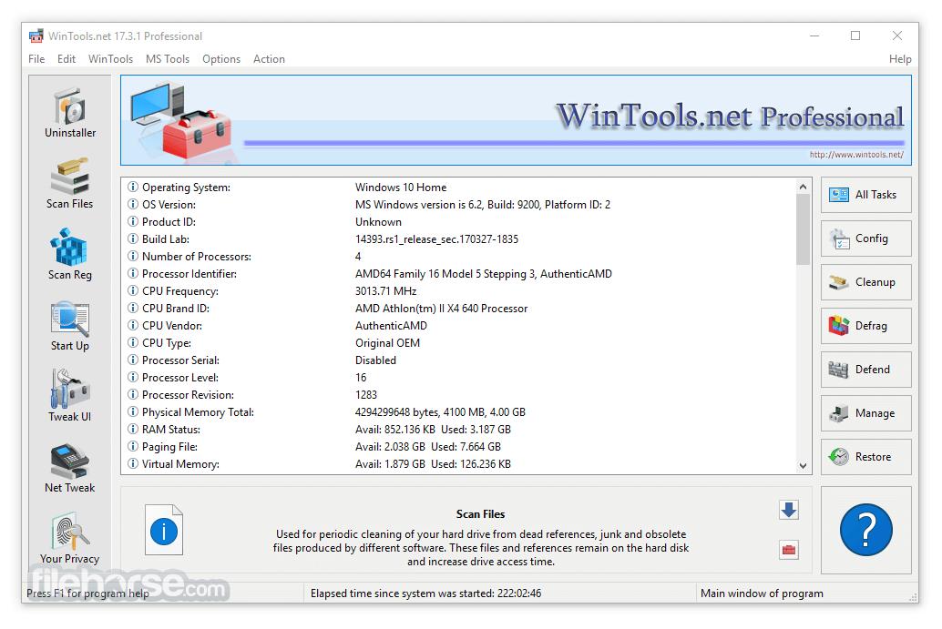 WinTools.net Professional 18.0.1 Captura de Pantalla 1