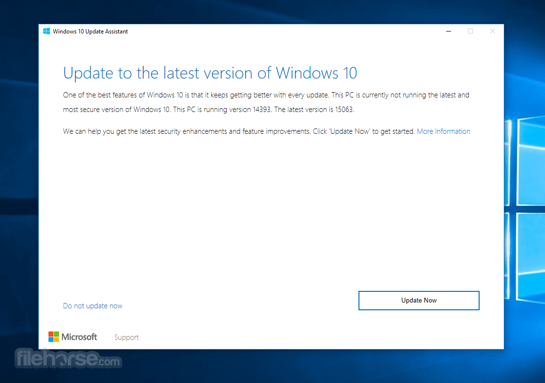 Windows 10 Upgrade Assistant 1.4.9200.23258 Captura de Pantalla 1