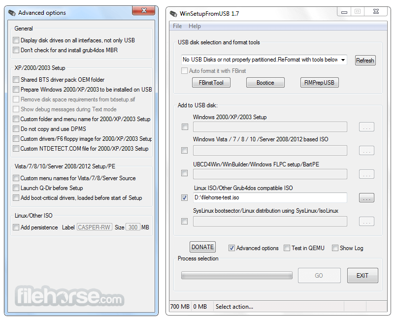 WinSetupFromUSB 1.8 Screenshot 2