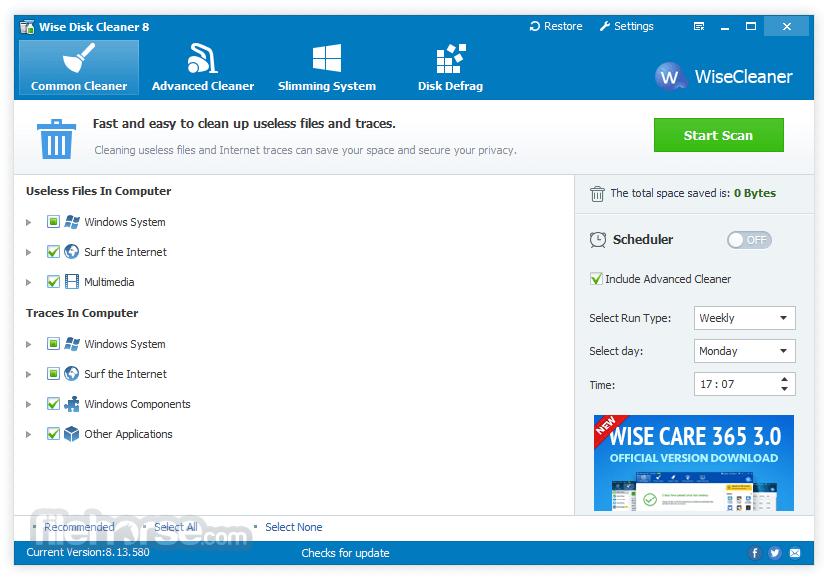 Wise Disk Cleaner 9.62 Screenshot 1