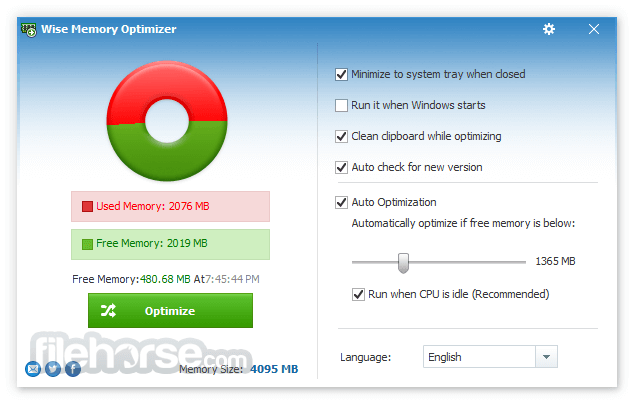 Wise Memory Optimizer 4.1.1.113 Screenshot 2