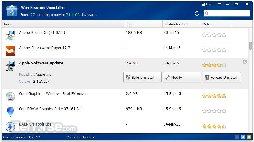 Wise Program Uninstaller 2.26.121 Screenshot 1