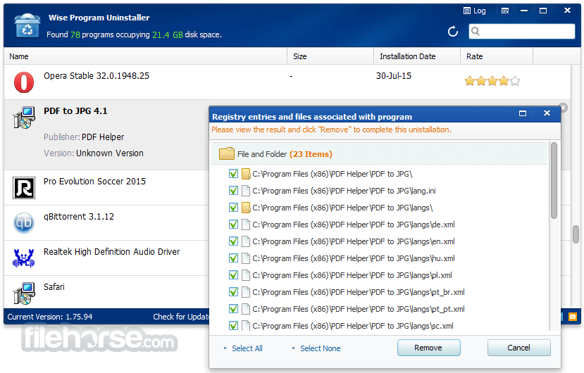 Wise Program Uninstaller 2.26.121 Screenshot 3