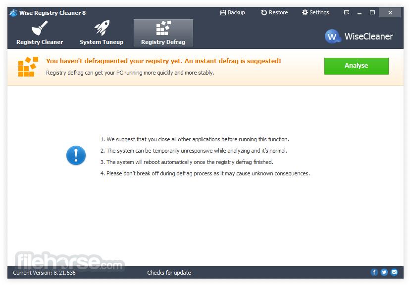 Wise Registry Cleaner 9.64 Screenshot 3