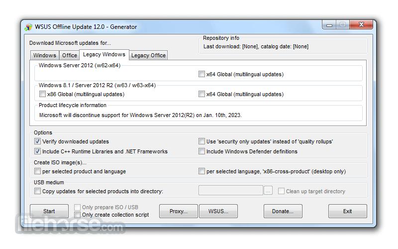 WSUS Offline Update 12.0 Captura de Pantalla 3