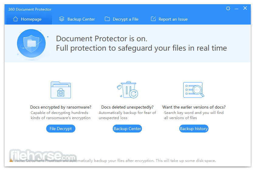 360 Document Protector 1.0.0.1171 Captura de Pantalla 1