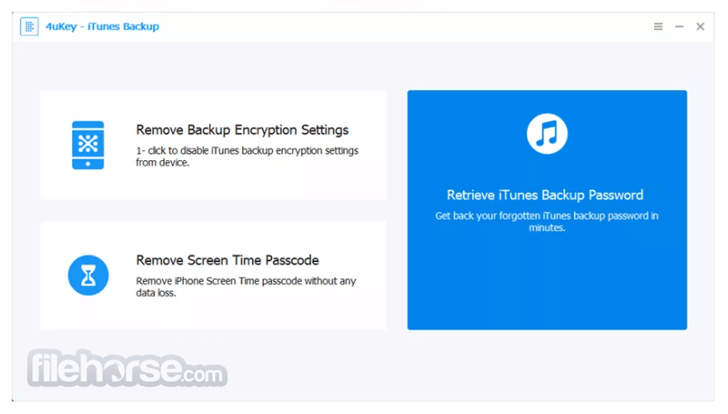 Download  4uKey iTunes Backup for Windows free 2021