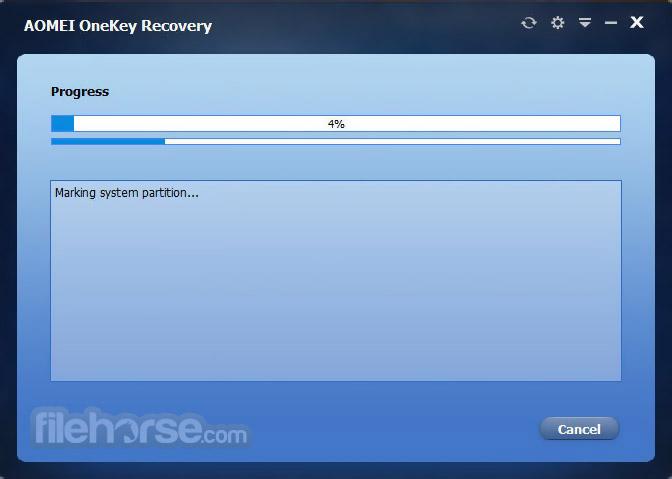 AOMEI OneKey Recovery 1.6.2 Screenshot 4