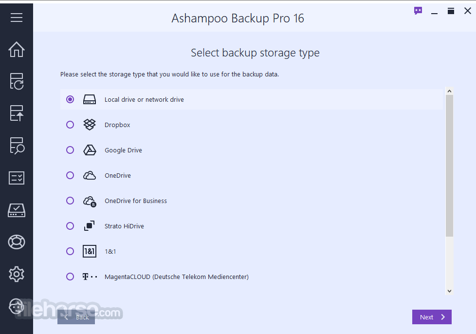 Ashampoo Backup Pro 15.03 Screenshot 2