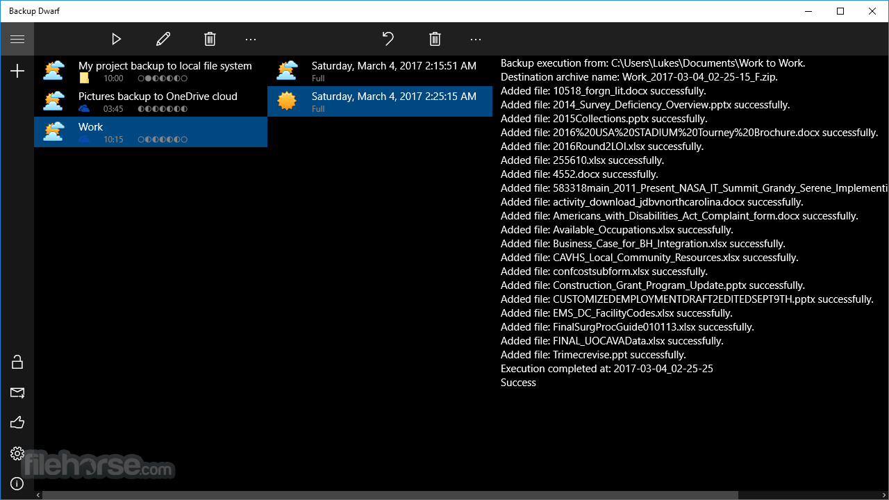 Backup Dwarf 3.0.17 Screenshot 1