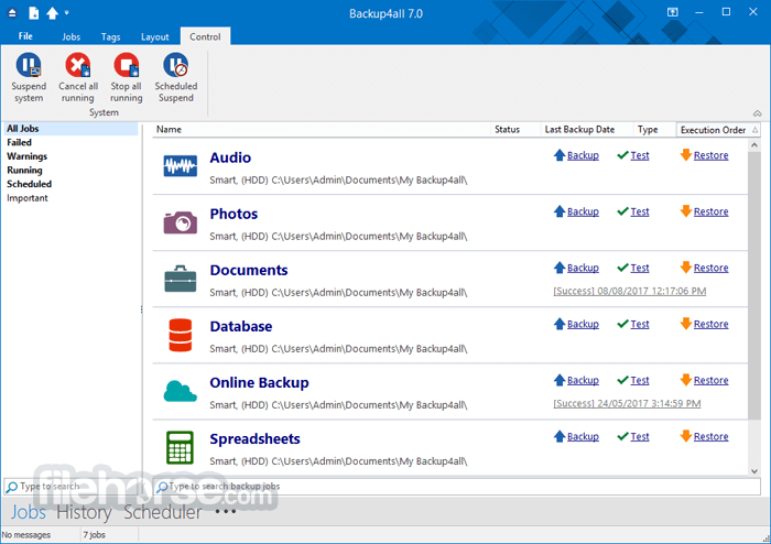 Backup4all 8.9 Build 352 Captura de Pantalla 2