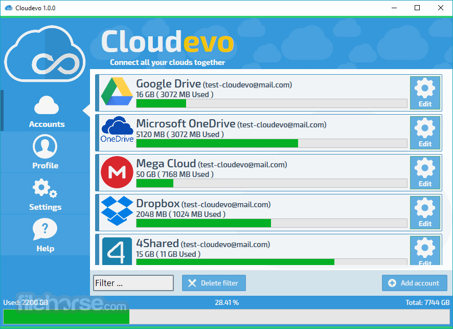 Cloudevo 3.4.1 Build 5206464 Captura de Pantalla 1