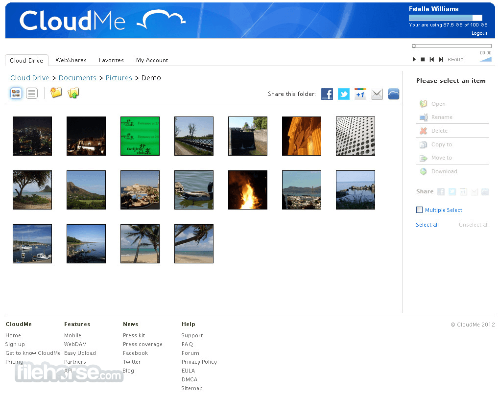 CloudMe 1.10.8 Captura de Pantalla 1