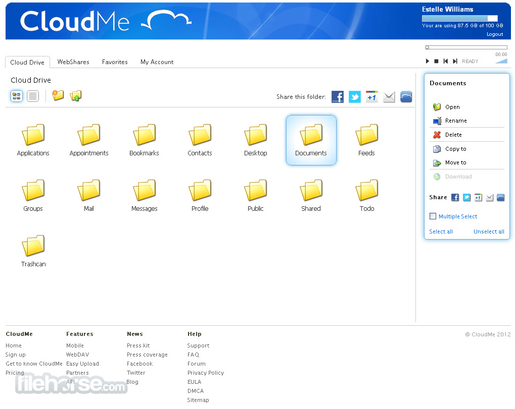 CloudMe 1.11.7 Captura de Pantalla 2