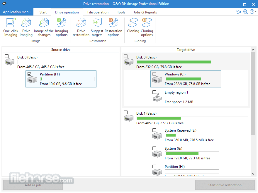 O&O DiskImage Professional 12.0.118 (32-bit) Screenshot 5