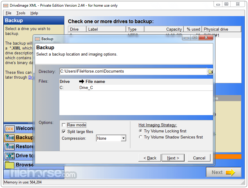 DriveImage XML 2.60 Screenshot 4