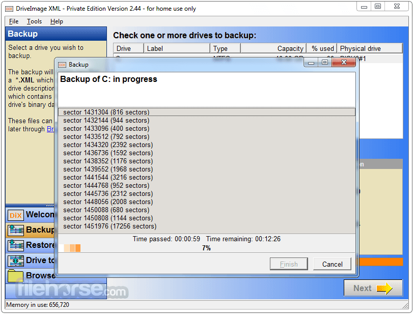 DriveImage XML 2.60 Screenshot 5