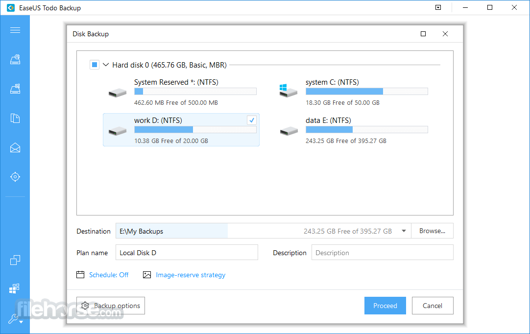 EaseUS Todo Backup Free 4.0.0.1 Screenshot 1