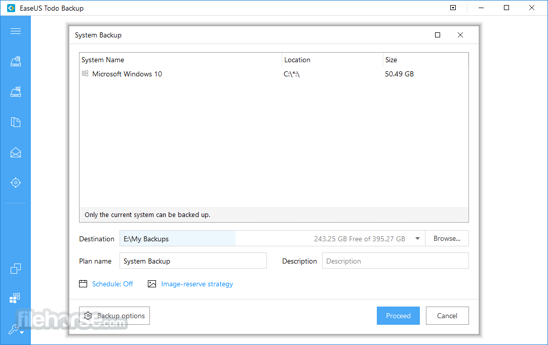 EaseUS Todo Backup Free 2.5.1 Screenshot 2