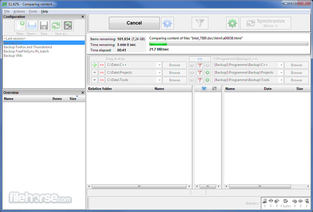 FreeFileSync 9.7 Screenshot 2