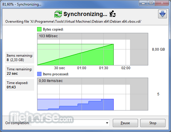 FreeFileSync 9.7 Screenshot 5