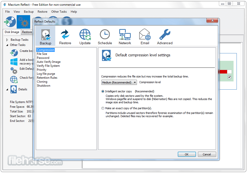 Macrium Reflect Free Edition 7.1.3317 (32-bit) Captura de Pantalla 4