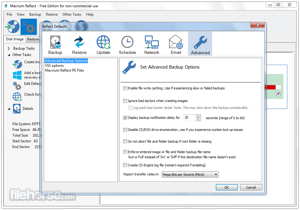 Macrium Reflect Free Edition 7.1.3317 (32-bit) Captura de Pantalla 5