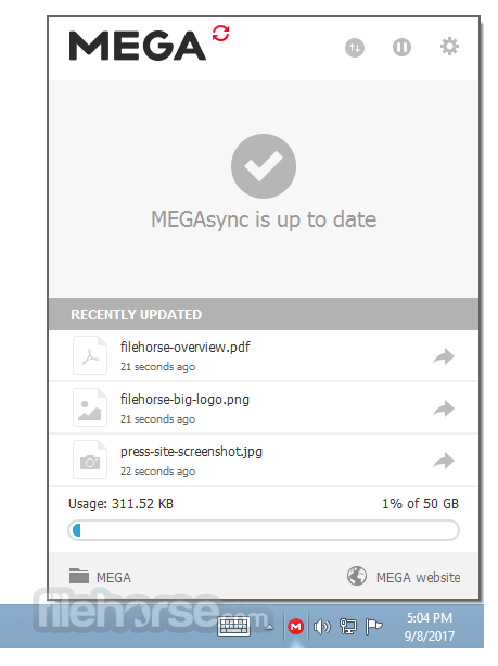 MEGAsync 3.6.0 Screenshot 1
