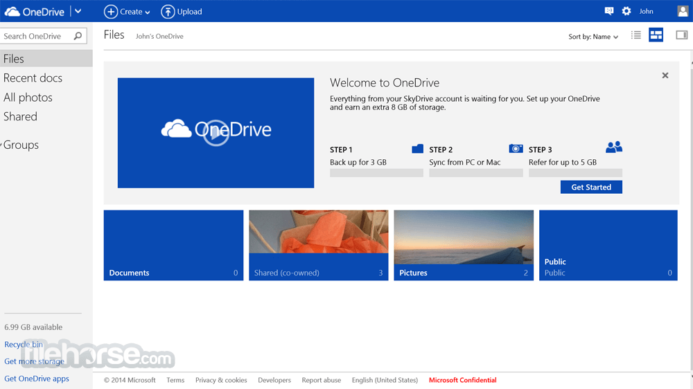 OneDrive 17.3.7076.1026 Screenshot 1