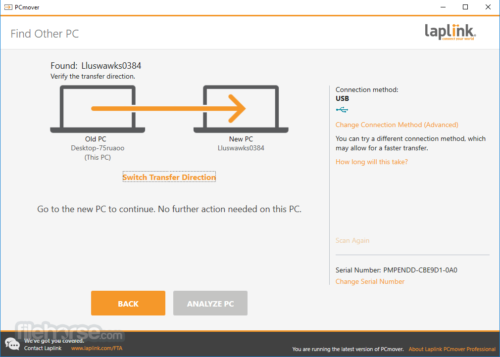 PCmover Professional 11.3.1015.1224 Screenshot 2