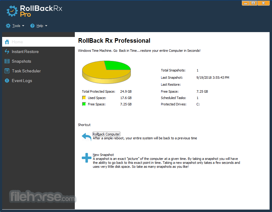 RollBack Rx Professional 11.2 Build 2705924873 Screenshot 1
