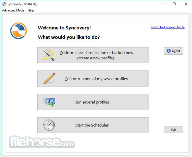 Syncovery 7.98 (64-bit) Screenshot 1